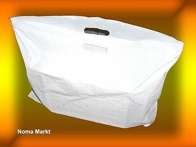 250 Stck. Tragetaschen  60x50 cm weiß 23my NEU Plastiktüten Tüten