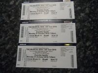 3 TICKETS FOR 'THE MUSICAL BOX' GENESIS TRIBUTE BAND. EVENTIM APOLLO 31ST OCTOBER 7PM