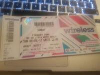 Wireless tickets Sunday 9th July