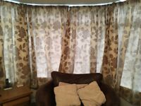 Taupe coloured Debenhams curtains (2 pairs)