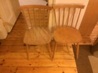 Wooden cottage style chairs