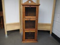 RUSTIC MESH FRONT THREE TIER LARDER STYLE CUPBOARD