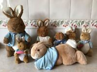 Collectable Peter Rabbit and Family cuddly toys
