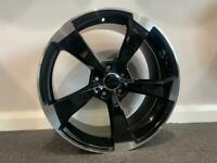 """18"""" RS3 Black edtion Style alloy wheels and tyres (5x100) Suits Vw Polo, Audi A1, Seat Ibiza etc"""