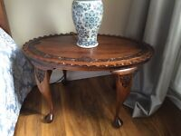 Solid oak antique coffee table
