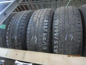 235/60R18 SET OF 4 USED CONTINETAL A/S TIRES