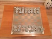 Excellent condition complete glass chess set