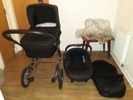 Silver Cross Elegance Pram with Car seat.