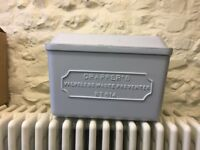 Thomas Crapper cast aluminium low level cistern in grey primer with urinal kit