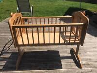 Mothercare wooden swinging crib