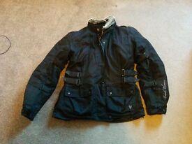 Frank Thomas Zarina Lady Rider Motorcycle Jacket Size LS (10-12 UK)