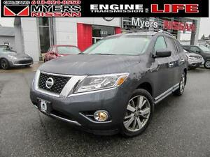 2013 Nissan Pathfinder PLAT, 4WD, LEATHER, NAVIGATION, BACK UP C