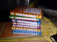 Diary of a Wimpy Kid books.