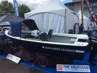 TALISMAN DAY FISHER WITH TOHATSU 20HP ELECTRIC START OUTBOARD MOTOR NEW