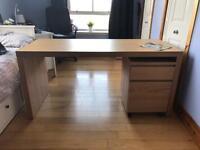 Oak Effect Desk , Work Desk, Dressing Table, with Drawers