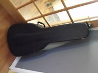 **SAFE** BLACK HARD CASE ACUSTIC GUITAR CASE WITH KEY MARTIN/FENDER/SQUIRE DUNDEE **SAFE**
