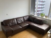Leather sofa for sale!