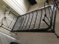 Attractive refurbished single wrought iron Victorian bed