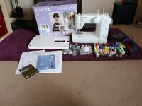 Toyota oekaki sewing machine with lots of extras