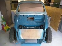 Riley 1.5 1960s Twin-Carb sports saloon, part completed restoration project.