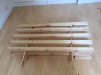 Pine Double Futon Base - As New Only stored in my Spare Bedroom