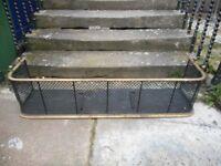 Fireplace fender brass & iron base spares restoration project