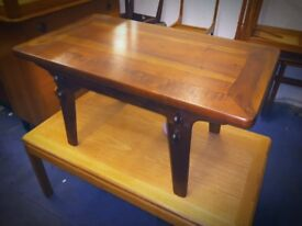 Mid Century McIntosh Walnut and Elm Coffee Table