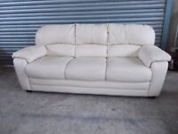 Cream Leather 3+2-seater Suite (Sofa)