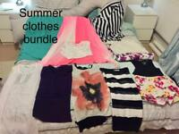 Summer clothes10-12 uk / with Harrods bag