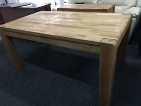 Harvey's New/Ex Display Cargo Portsmore Extending Dining Table Solid Oak
