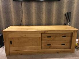Reduced to £150 - Oak Television Unit, practically new!!