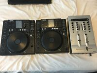 Gemini CDJ-700 x2 and Numark Matrix Mixer