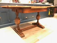Oak extendable dining table c1930s