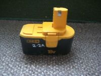 Ryobi BPP 1815 Battery for Purchase with Ryobi Cordless Drills or Circular Saw - See other adverts