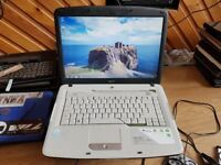 Perfect working order acer aspire 5315 windows 7 300g hard drive 3g memory webcam charger