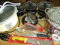 JOB LOT OF POTS AND PANS