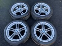 18'' GENUINE BMW F10 5 SERIES M SPORT F11 613 ALLOY WHEELS TYRES ALLOYS 5X120