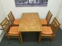 Solid pine dining table & 4 chairs SET! FREE DELIVERY!