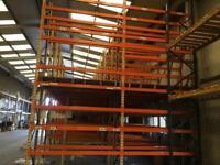 Parts storage system, shelving mezzanine