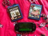 SONY Playstation Vita OLED PS with games and 32GB memory card