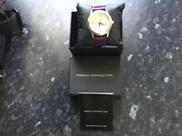 FCUK purple women's watch