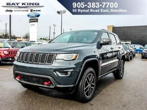 2017 Jeep Grand Cherokee TRAILHAWK, 4X4, GPS NAV, PANO SUNROOF,