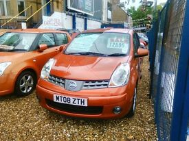 2008 Nissan note 1.6 petrol automatic only 53.000 miles one owner from new full service history