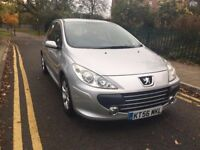 2007 PEUGEOT 307 1.6 S 16V,AUTO,LOW MILES,FULL SERVICE HISTORY,AIR CON,ALLOYS,HPI CLR