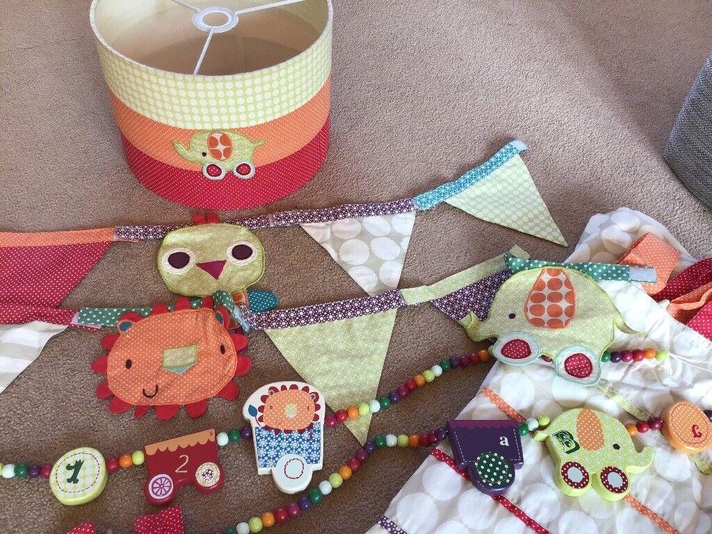 Nursery Bedding Decor Mamas Papas Jamboree Large Bundle 10 Items