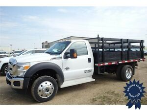 2015 Ford Super Duty F-550 XLT 4WD Regular Cab 12' Flat Deck