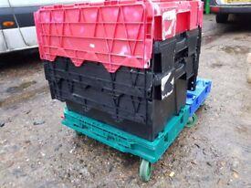 Pallet Heavy Duty Trolleys, Plastic Storage Box Trolleys Suck 60cm x 40cm