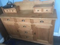 Sideboard and top addition in solid pine. Used but still solid