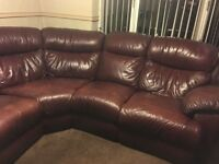 7 seater leather reclining modular corner suite. FREE to anyone able to collect.