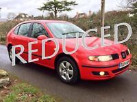 Great Family Car !!! Seat Leon 1.6 SX 5dr + FSH + Warranty + New MOT + Serviced